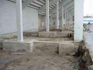 Bouw stadion fundering (1995)