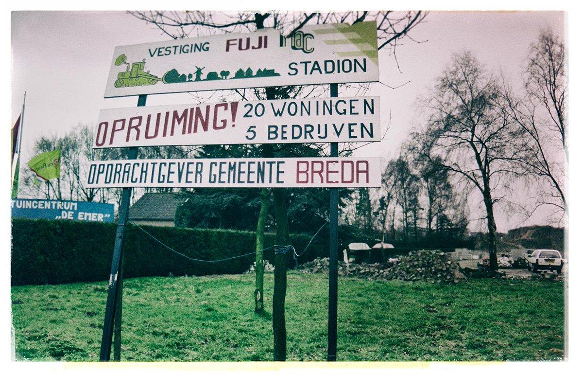 Protest tegen het NAC Stadion (1992)